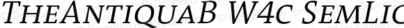 TheAntiquaB W4c SemLight Italic Version 1.72