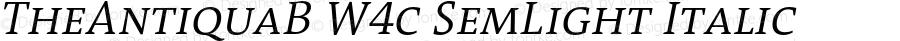TheAntiquaB W4c SemLight Italic Version 1.72