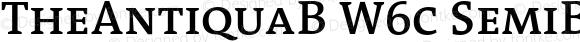 TheAntiquaB W6c SemiBold Regular Version 1.72