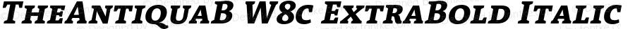 TheAntiquaB W8c ExtraBold Italic Version 1.72
