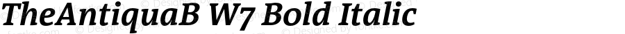 TheAntiquaB W7 Bold Italic Version 1.72