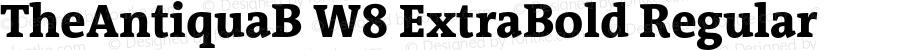 TheAntiquaB W8 ExtraBold Regular Version 1.72