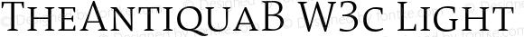 TheAntiquaB W3c Light Regular Version 1.72