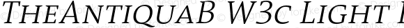 TheAntiquaB W3c Light Italic Version 1.72