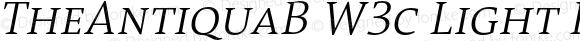 TheAntiquaB W3c Light Italic Version 1.72
