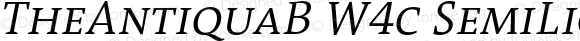 TheAntiquaB W4c SemiLight Italic Version 1.72