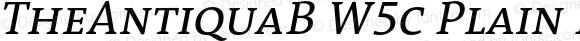 TheAntiquaB W5c Plain Italic Version 1.72