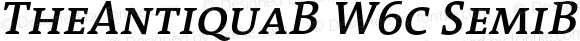 TheAntiquaB W6c SemiBold Italic Version 1.72