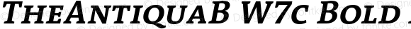 TheAntiquaB W7c Bold Italic Version 1.72