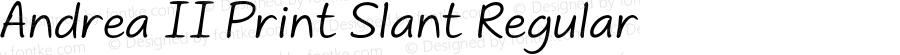 Andrea II Print Slant Regular Version 1.000 2010 initial release