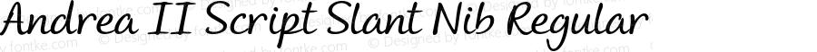 Andrea II Script Slant Nib Regular Version 1.000 2010 initial release