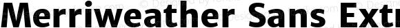 Merriweather Sans ExtraBold