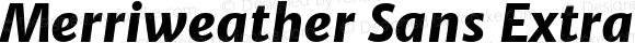 Merriweather Sans ExtraBold Italic