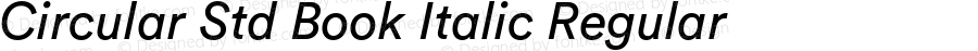 Circular Std Book Italic Regular Version 1.001; build 0002