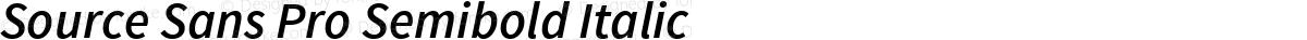 Source Sans Pro Semibold Italic