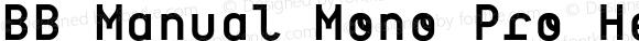 BB Manual Mono Pro Headline Semi Bold