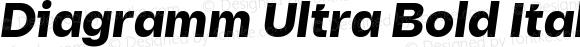 Diagramm Ultra Bold Italic
