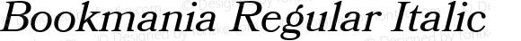 Bookmania Regular Italic