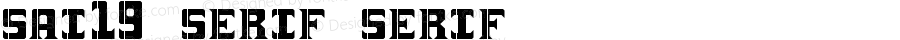 sai19 serif serif Version 1.0