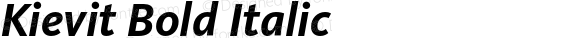 Kievit Bold Italic