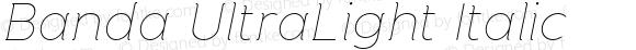 Banda UltraLight Italic