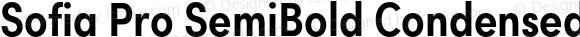 Sofia Pro SemiBold Condensed