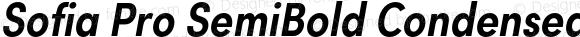 Sofia Pro SemiBold Condensed Italic