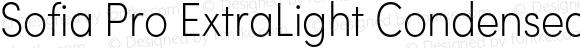 Sofia Pro ExtraLight Condensed