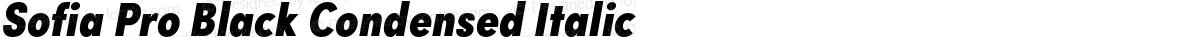 Sofia Pro Black Condensed Italic
