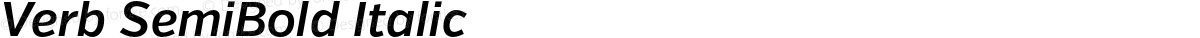 Verb SemiBold Italic
