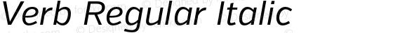 Verb Regular Italic