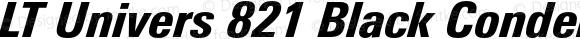 LT Univers 821 Black Condensed Italic