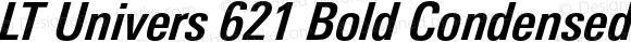 LT Univers 621 Bold Condensed Italic