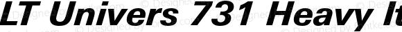 LT Univers 731 Heavy Italic