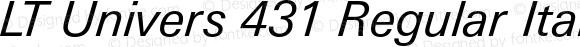 LT Univers 431 Regular Italic