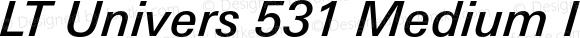 LT Univers 531 Medium Italic