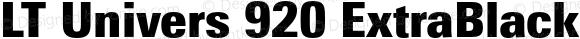LT Univers 920 ExtraBlack Condensed