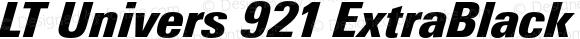 LT Univers 921 ExtraBlack Condensed Italic