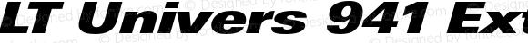 LT Univers 941 ExtraBlack Extended Regular