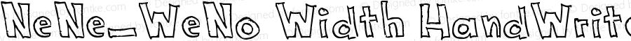 NeNe_WeNo Width HandWrite Book Version 1.00 February 15, 20