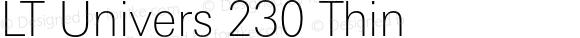LT Univers 230 Thin