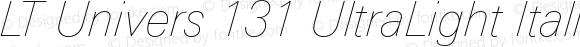 LT Univers 131 UltraLight Italic