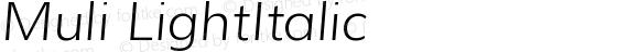Muli LightItalic
