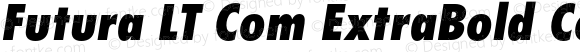 Futura LT Com ExtraBold Condensed Oblique