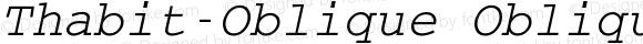 Thabit-Oblique Oblique Version 0.01