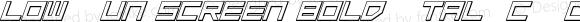 Low Gun Screen Bold Italic 3D BoldItalic3D
