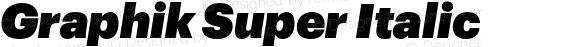 Graphik Super Italic