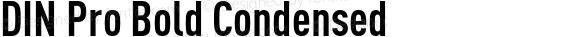 DIN Pro Bold Condensed