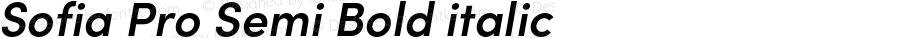 Sofia Pro Semi Bold italic