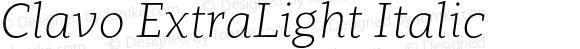 Clavo ExtraLight Italic